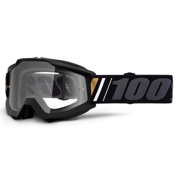 Accuri Goggle Anti Fog Clear Lens - Schwarz/Grau