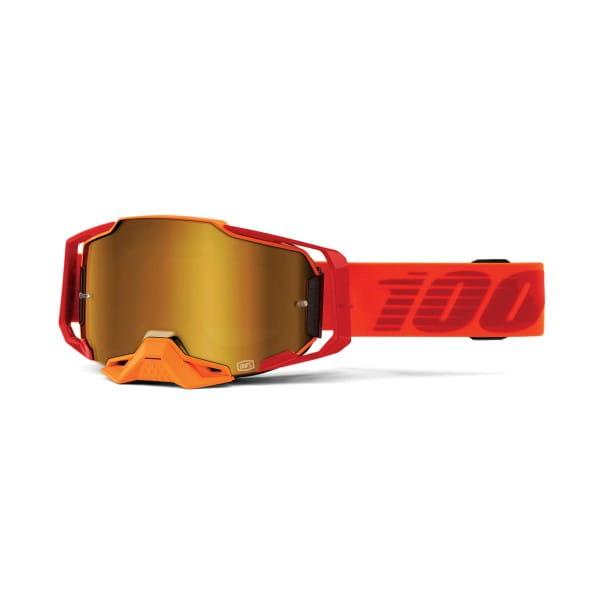 Armega Goggles Anti Fog - Rot/Orange - verspiegelt