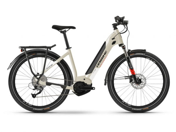 Trekking 4 i500Wh LowStep 9-G Altus - Damen 27,5 Zoll E-Bike - Beige