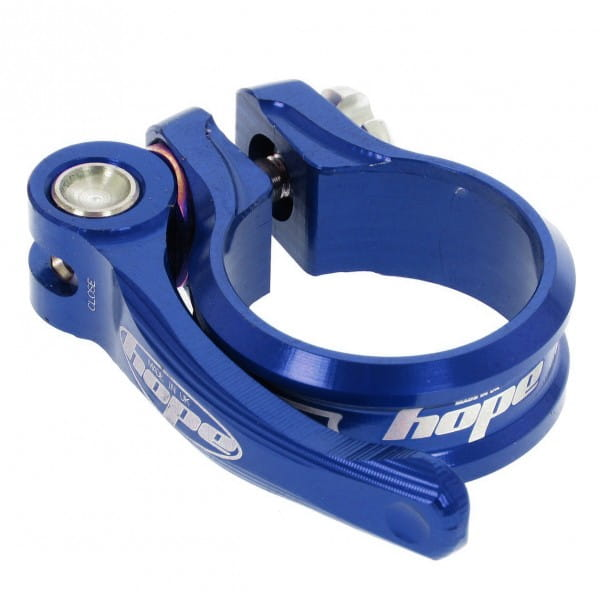Sattelklemme QR - blau