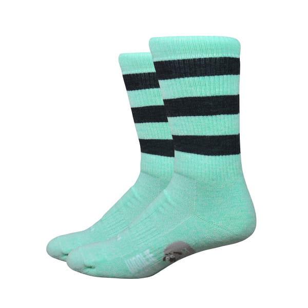 Woolie Boolie Socken - Vintage Stripes - Grün/Schwarz