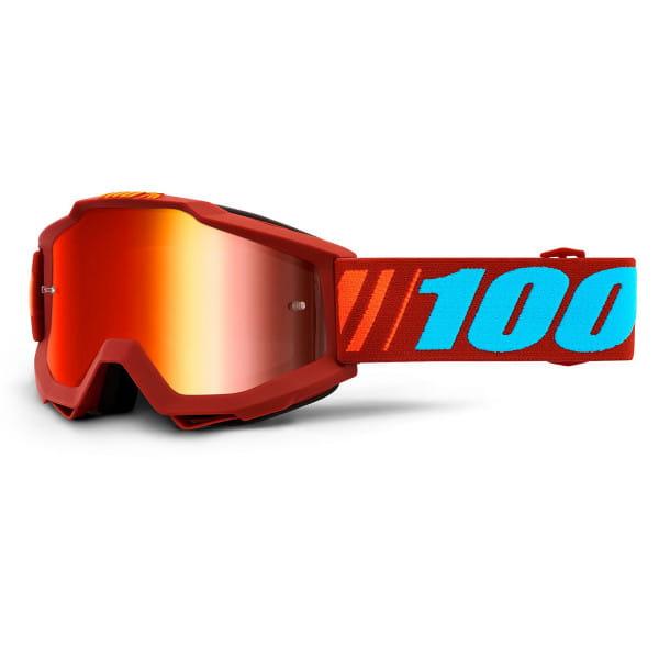 Accuri Goggle Anti Fog Mirror Lens - Rot/Blau