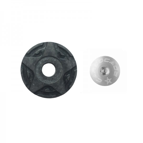 Top Cap Carbon 3D Aheadkappe - silber