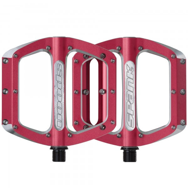 Spoon Flat Pedal Red