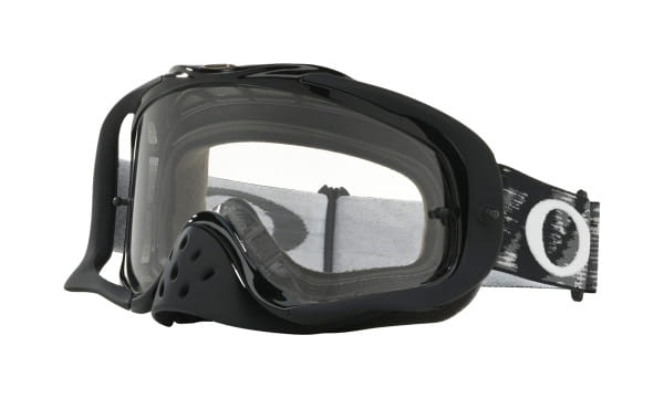 Crowbar MX Goggles - Jet Black Speed - Dual Clear