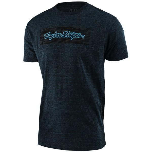 Signature Block Camo - T-Shirt - Midnight Blue - Blau