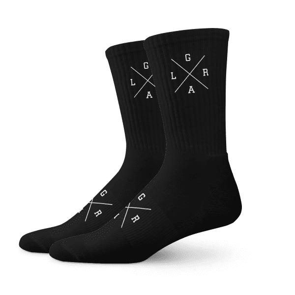 Baumwollsocke X-Logo - Schwarz/Weiß
