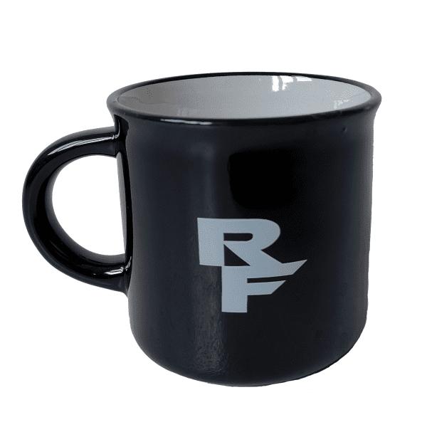 Kaffeetasse mit Logo - Schwarz