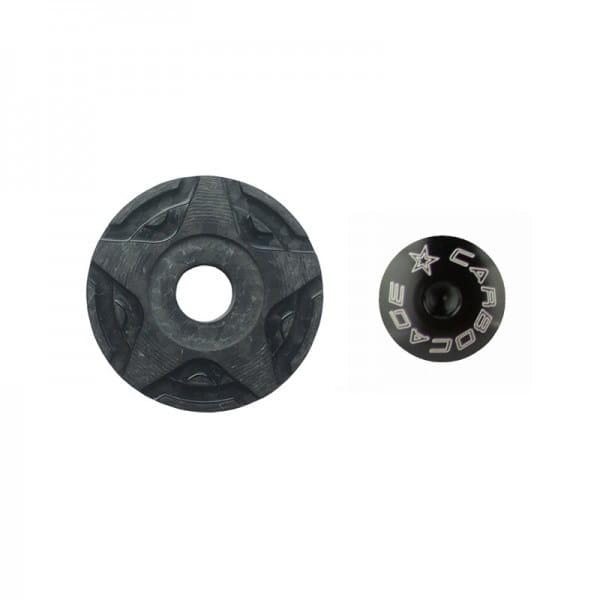 Top Cap Carbon 3D Aheadkappe - schwarz