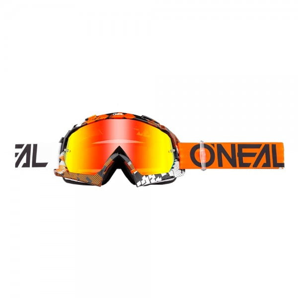 B10 Pixel Goggle - orange/white - Glass radium red