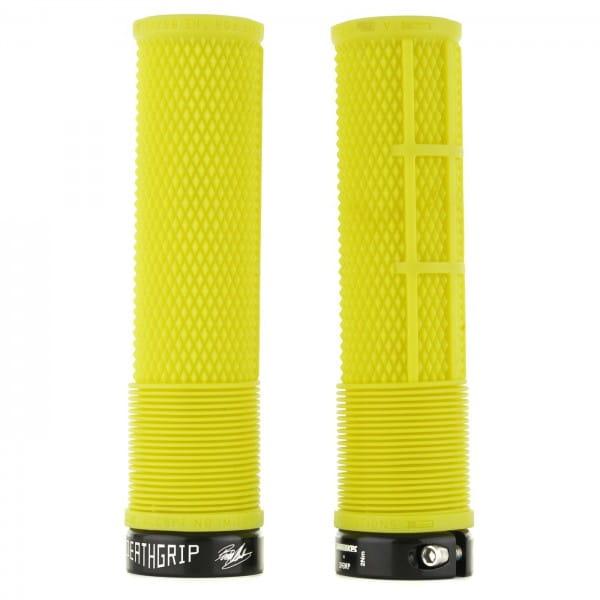 Brendog Death Grip Lock-On Grips - A20/Soft - neon yellow