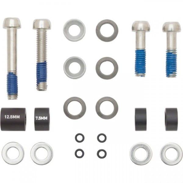 Disc Adapter, 20mm, Stahl, PostMount / CPS + Standard, vorne 180mm, hinten 160mm Rotor