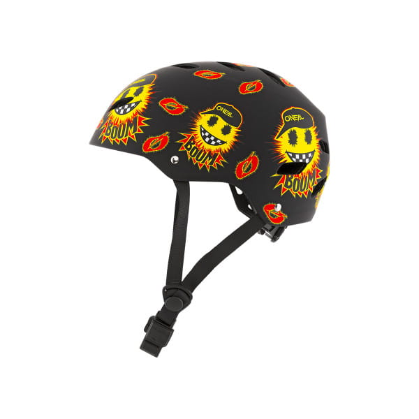 Dirt LID Youth Emoji - Kids Helm - Schwarz/Gelb