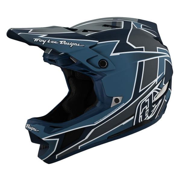 D4 Composite - Fullface Helm - Graph Marine - Schwarz/Blau