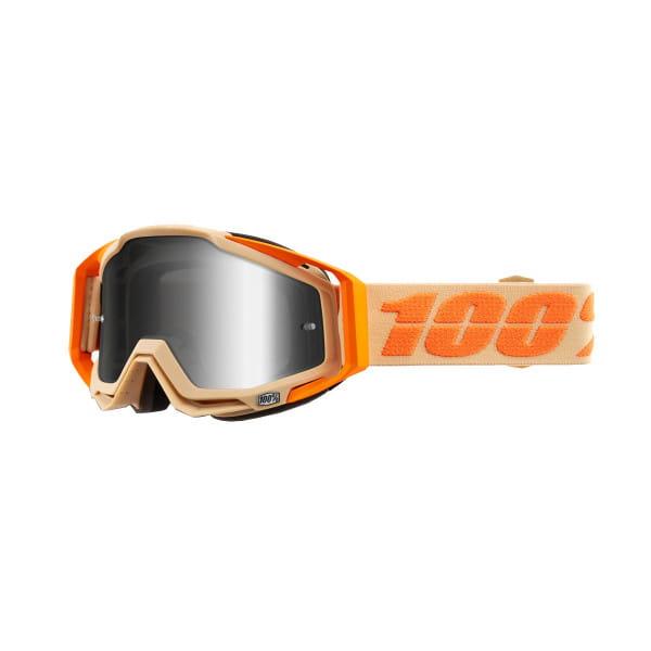 Racecraft Goggles Anti Fog Mirror Lens - Sahara