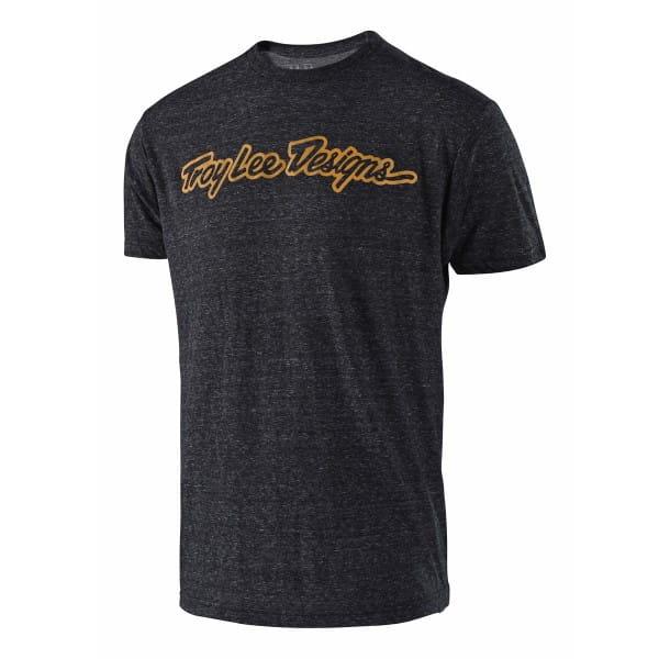 Signature T-Shirt - Grau/Braun