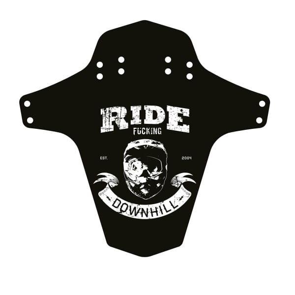 Ride F***ing Downhill Mudfender - Schwarz/Weiß