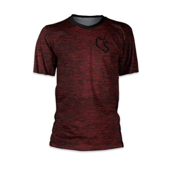"Kurzarm Trikot ""Heather"" - Burgundy S"