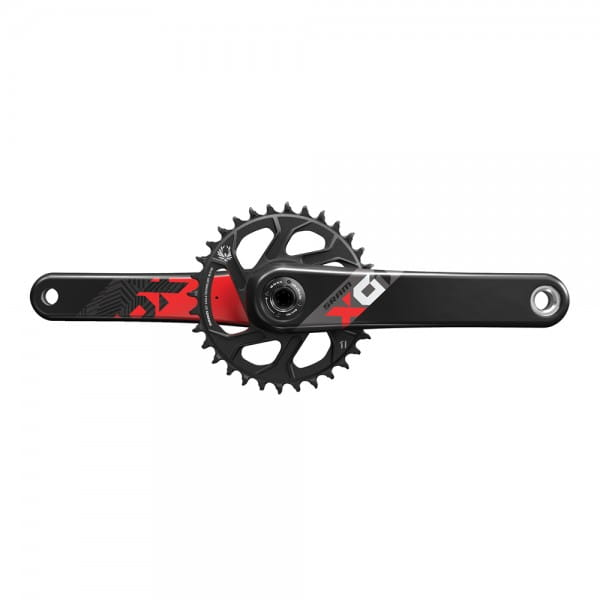 X01 Eagle Kurbelgarnitur BB30 Direct Mount 32 Zähne 12-fach - rot