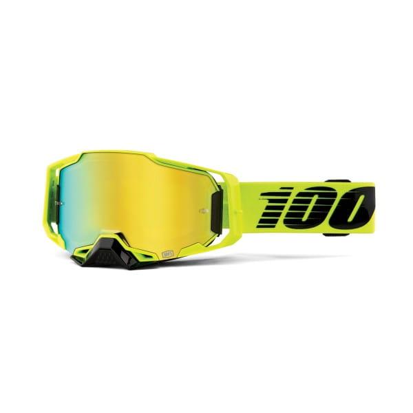 Armega Goggles Anti Fog - Gelb/Gold - verspiegelt