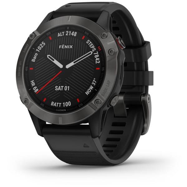 FENIX 6 Sapphire - GPS-Armbanduhr - Schwarz/Grau
