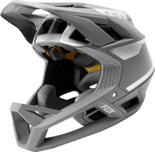 Proframe Quo Fullface Helm CE - Silber/Grau