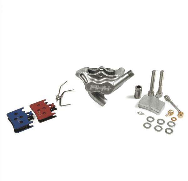 RX4 Caliper Flatmount Complete rear - Sram - Silber