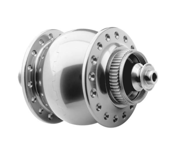 Nabendynamo-SONdelux-disc center Lock-silber poliert (32)