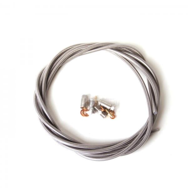 Bremsleitung Stahlflex mit Verbindungsstücken für Bremshebel und -sattel
