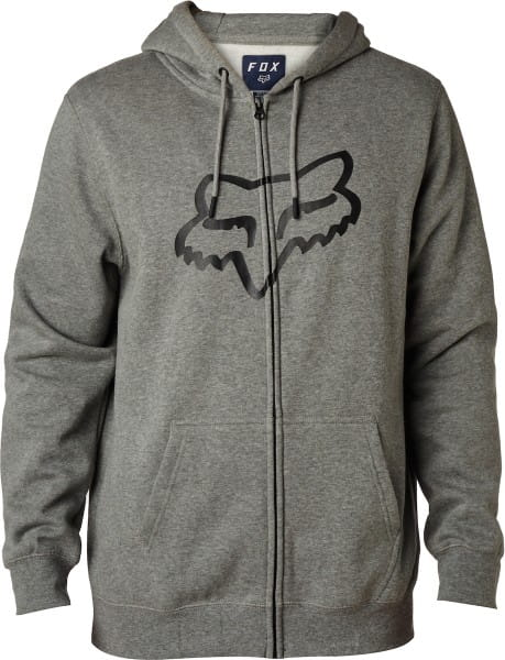Legacy Foxhead Zip Fleece Hoodie - Heather Graphite