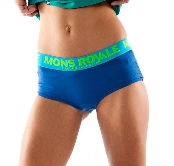 Womens Boyleg Hot Pants - Bluebird