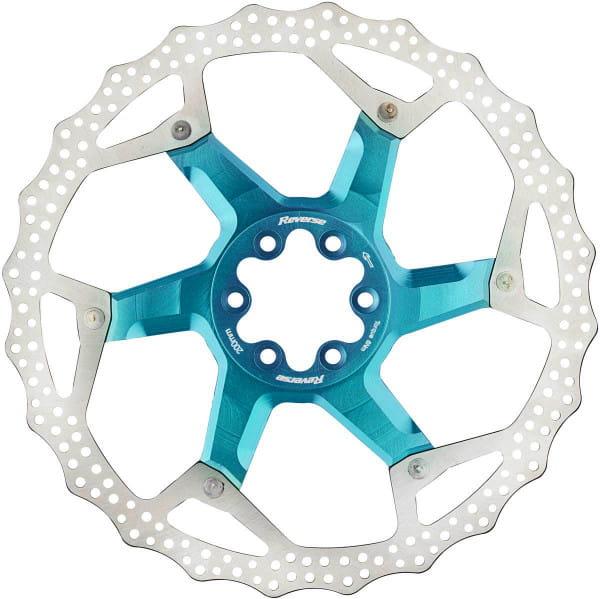 Bremsscheibe mit Alu Spider - hellblau