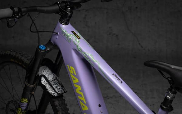 E-Bike Rahmenschutz Kit Lighting - Green Matt