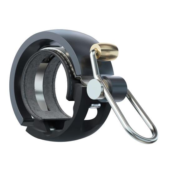 Oi Luxe Fahrradklingel - Schwarz/Grau - Small, 22.2mm